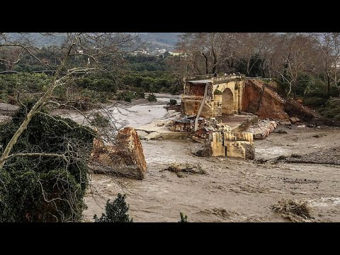 Heftige Unwetter auf Kreta