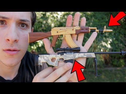World's SMALLEST Gold AK-47 & L96 Bolt Action Sniper Rifle (GoatGuns Unboxing)