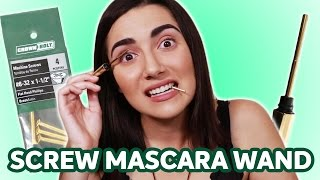 "I try out the Hourglass Stainless Steel ""Lash Curator"" and pit it against a screw I got from a hardware store as a mascara wand! I thankfully didn't lose an eye, but ..."