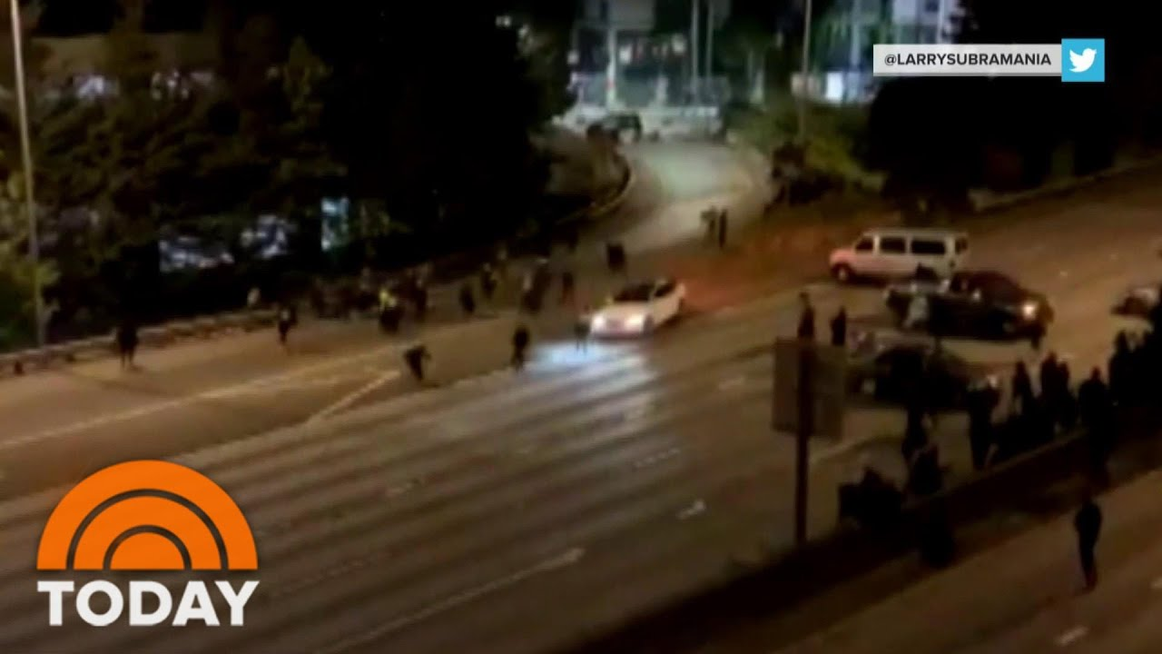 Car Drives Through Closure, Strikes Multiple Protesters On Seattle Highway   TODAY