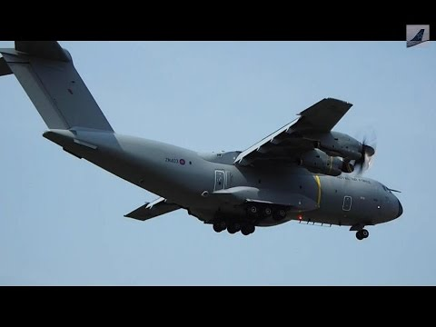Royal Air Force Airbus A400M Atlas Take-off & Landing at Quebec City Airport (YQB)