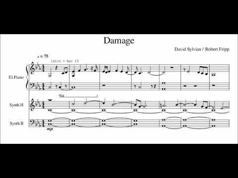 David Sylvian + Robert Fripp 'Damage' - transcription