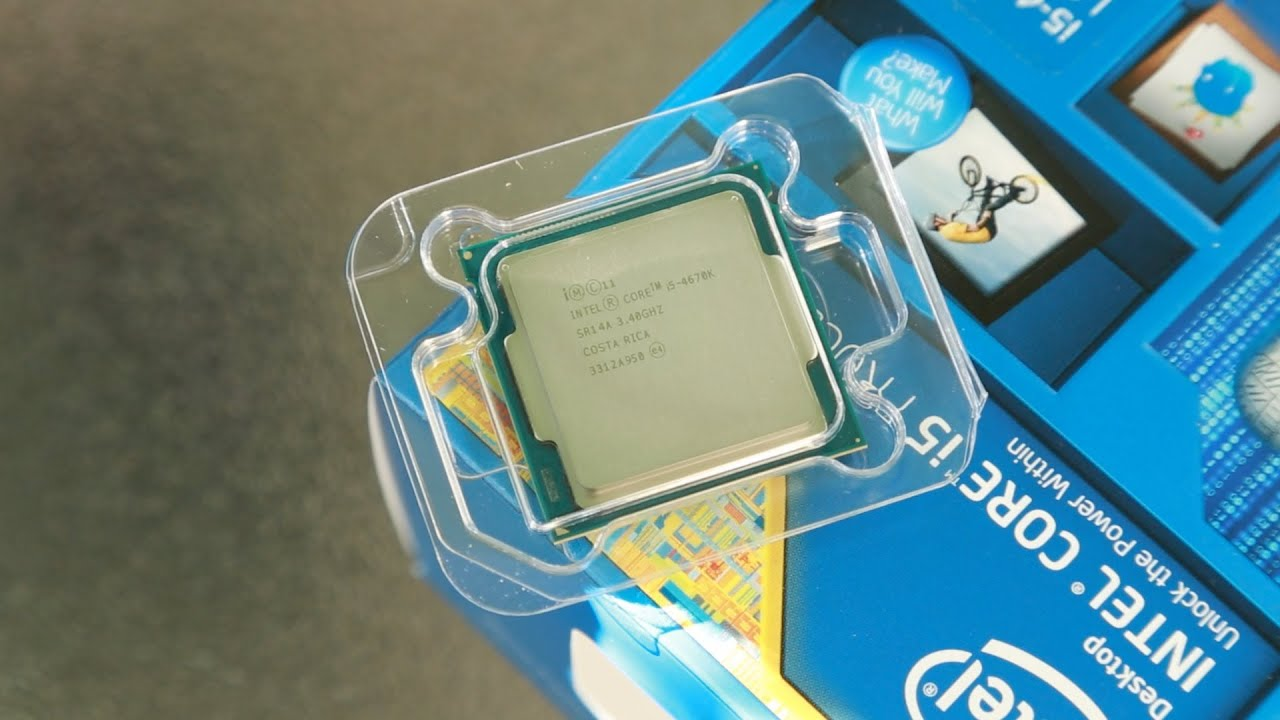 Intel i5-4670K 3.4GHz Quad-Core Haswell CPU Unboxing! - YouTube
