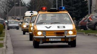 Police retro cars Czechoslovakia