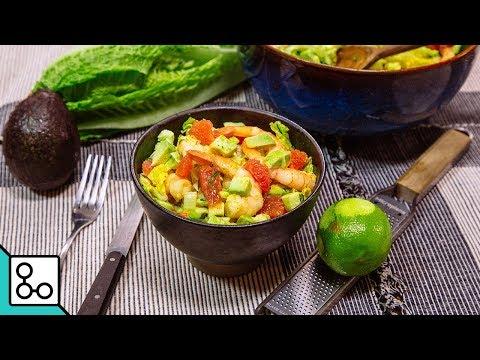 salade-romaine-crevettes-&-vinaigrette-au-curry---youcook