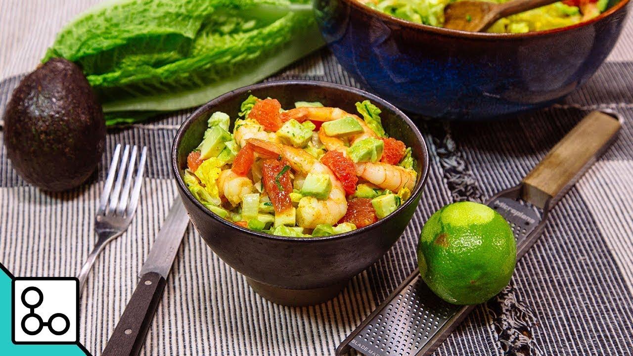 Salade romaine crevettes & vinaigrette au curry - Youcook