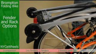 Brompton folding bike - Fenders and Rack