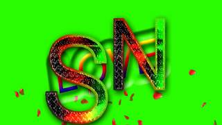 S Love N Letter Green Screen For WhatsApp Status | S & N Love,Effects chroma key Animated Video