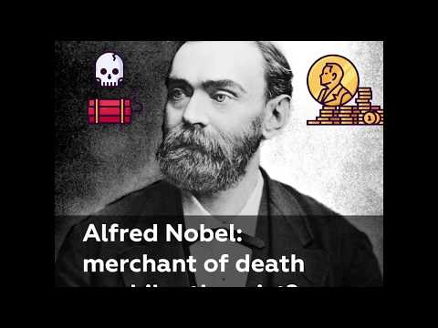 What inspired Alfred Nobel to found the world-famous prize