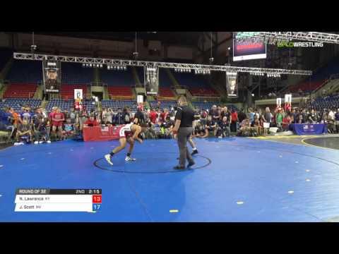 Cadet FS 145 Round of 32 - Nathaniel Lawrence (KY) vs. Justus Scott (NV)