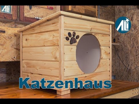 katzenhaus outdoor selber bauen anleitung wohn design. Black Bedroom Furniture Sets. Home Design Ideas