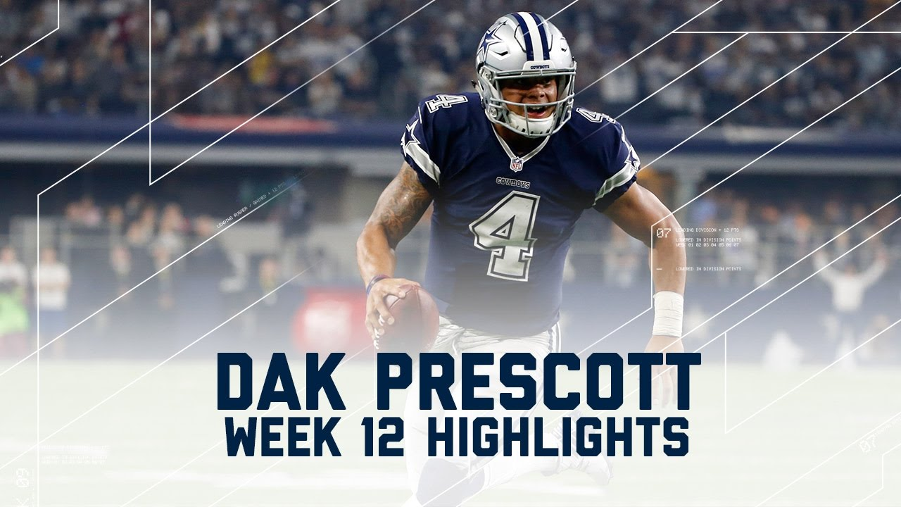 quality design 64a42 5f432 Dak Prescott's 2 TD Day! | Redskins vs. Cowboys | NFL Week 12 Player  Highlights
