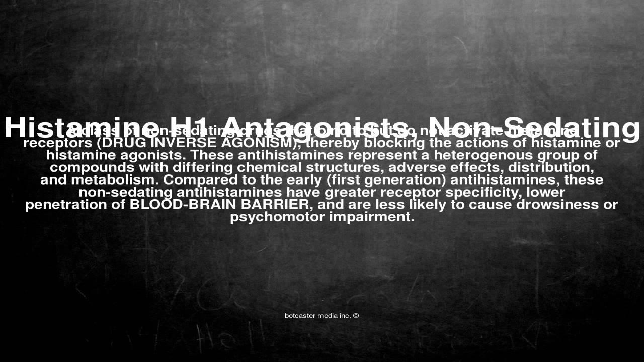 Non sedating h1 antagonists