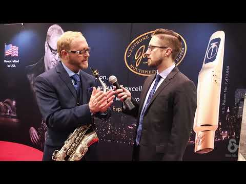 Jody Jazz at NAMM 2018 with the SUPER JET Tenor Saxophone Mouthpiece