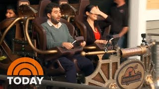 'Fur Face' And 'Donnadorable' Travel Through Time On New Rollercoaster | TODAY