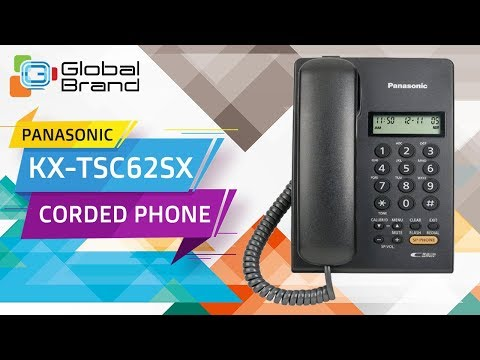 Panasonic KX-TSC62SX Corded Phone Integrated Telephone Set   PABX   Unboxing   Review