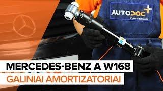 Išmontavimo Amortizatorius MERCEDES-BENZ - vaizdo vadovas