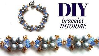 Elegant design for a beaded bracelet. Bracelet making tutorial