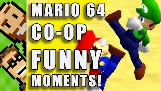 FUNNY MOMENTS! Silly Deaths, Glitches, Cannon Fails & MORE! | Mario 64 Co Op Hack | The Basement