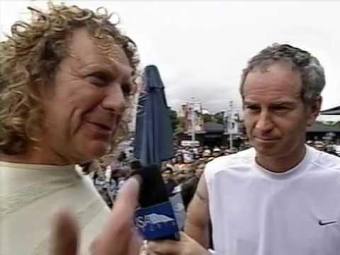 Robert Plant with John McEnroe interview 2002 (US Open)
