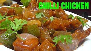 CHILLI CHICKEN WITH GRAVY// RESTAURENT STYLE CHILLI CHICKEN// CHILLI CHICKEN GRAVY