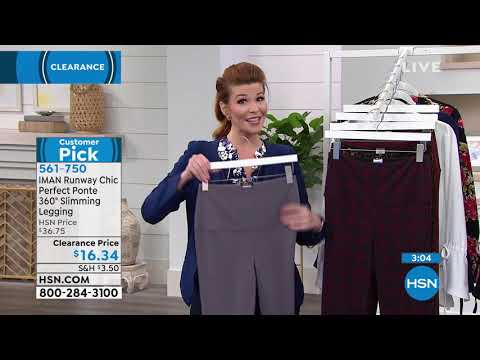 2d80393f806f0 IMAN Runway Chic Perfect Ponte 360 Slimming Legging - YouTube