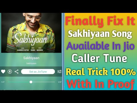 Set Sakhiyaan Song In Jio Caller Tune||Problem Fix It||😉😉