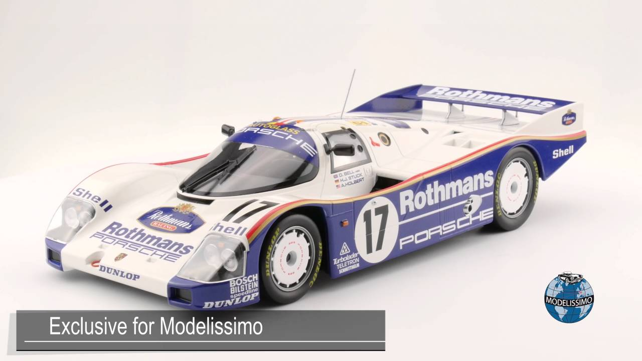 modelissimo norev porsche 962 c winner le mans 1987 youtube. Black Bedroom Furniture Sets. Home Design Ideas