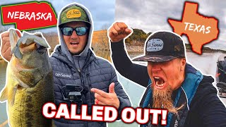 CALLED OUT By YouTube Fisherman!! --Texas vs. Nebraska 1v1 Fishing Showdown!