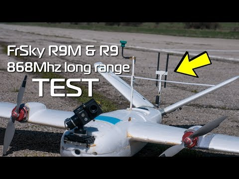 FrSky R9M and R9 868Mhz long range video system test (EU legal)