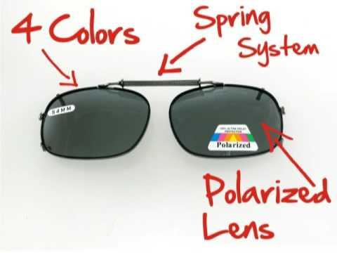 Polarized Clip On Sunglasses Anatomy YouTube