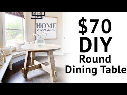 $70 DIY Round Dining Table