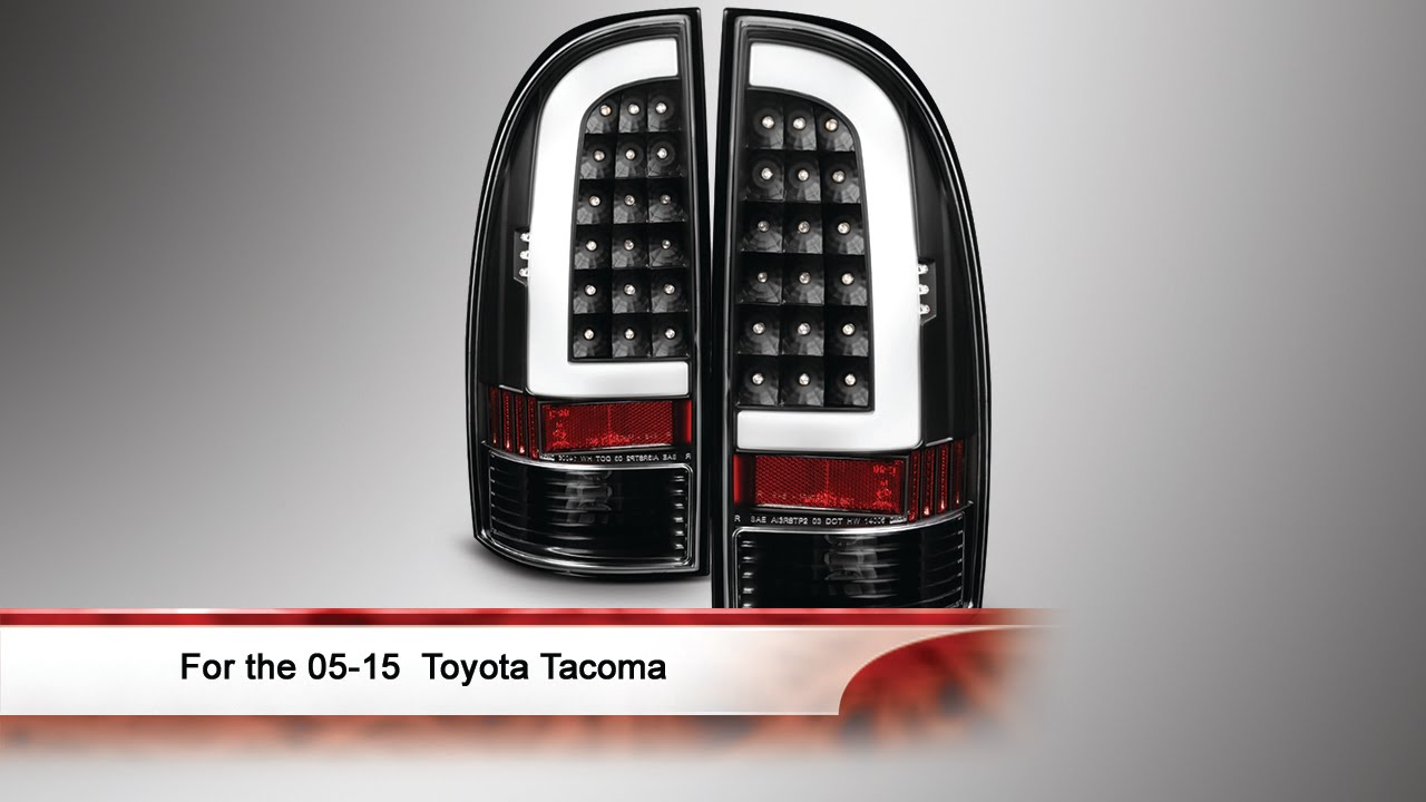 05 15 toyota tacoma light bar led tail lights youtube. Black Bedroom Furniture Sets. Home Design Ideas