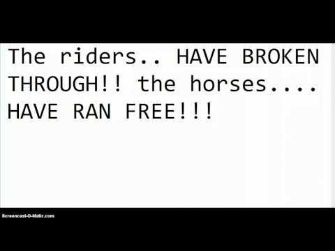 The horse breakthrough info.