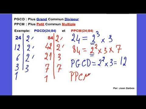 leçon pgcd ppcm
