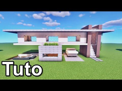 MINECRAFT TUTO BELLE MAISON MODERNE !! :)