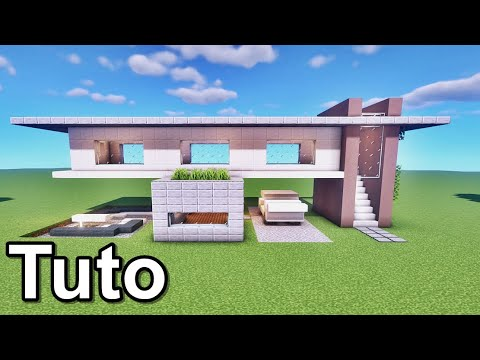 Minecraft tuto belle maison moderne youtube for Belle maison minecraft