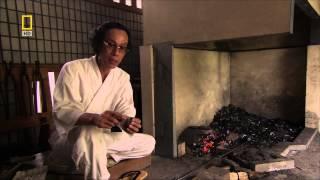 Schmieden eines Katana ( japanisches Samurai-Schwert )