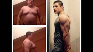 One Year Body Transformation from fat to fit