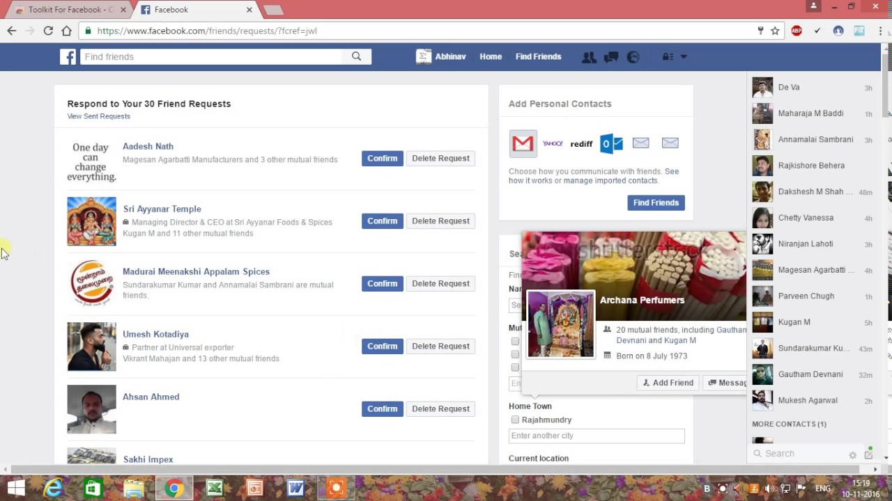 How to accept all facebook friend request at once – MUST TRY – BEST TOOL TO USE IN 2017