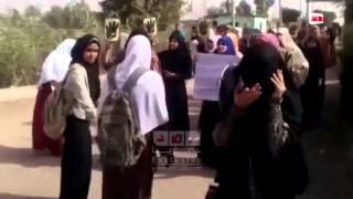 الدقهلية | جامعة الازهر | مسيرة مفاجئة لطالبات فرع تفهنا الاشراف بمحطه القطار