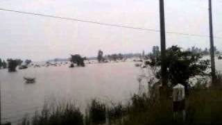Flood in Isaan-- Northeast of Thailand