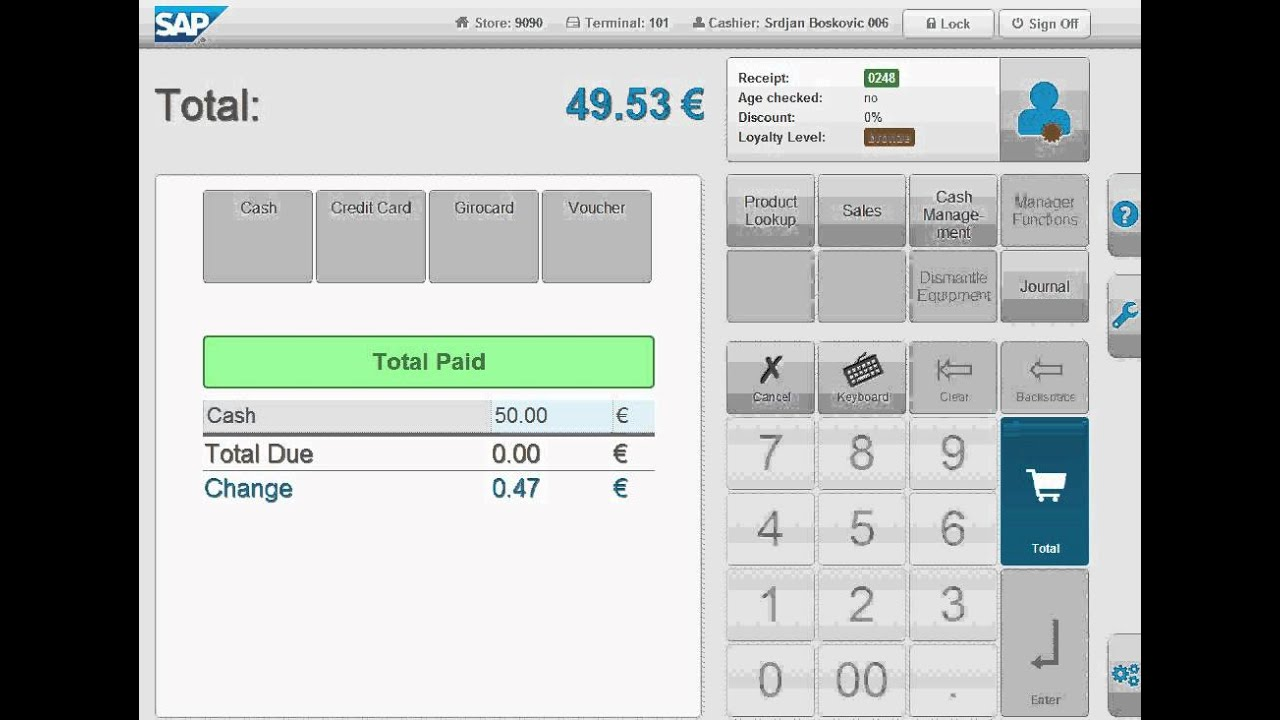 Sap Web Cloud Pos Prototype Experimental Preview Youtube