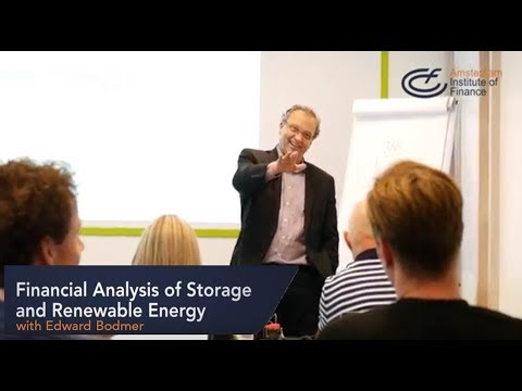 Financial Analysis of Storage and Renewable Energy program | Amsterdam Institute of Finance