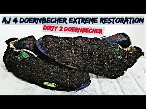 AJ 4 Doernbecher Extreme Restoration | Dirty 2 Doernbecher