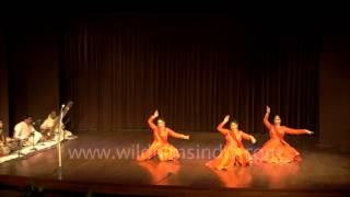 Rythmic Kathak Dancers performing at Duet Dance Festival