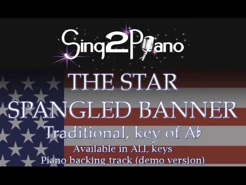 The Star Spangled Banner - All Keys - Traditional (Piano Karaoke demo)