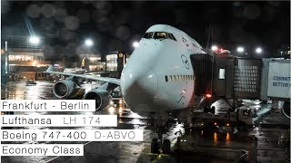 LUFTHANSA 747-400 FRANKFURT TO BERLIN | Flight Review | Economy Class