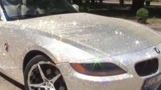 Красота по-молдавански: водитель облепил свой BMW кристаллами Swarovski