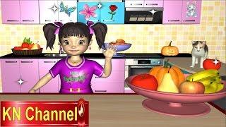 Phim hoạt hình Trò chơi trẻ em KN Channel Bé Na học trái cây  Kỹ năng sống 3D Cartoons